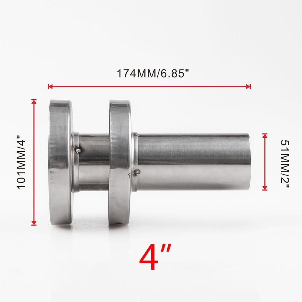 PL Stainless Steel Car Refit Double Exhaust Pipe Silencer 4 inches / 4.5 inch (Inner