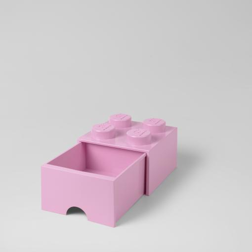 LEGO Storage Drawer Brick 4 (Light Pink)