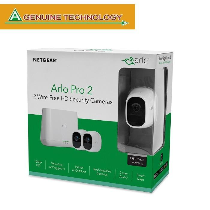 Sale Netgear Arlo Pro 2 Smart Security System With 2 Cameras Pack Vms4230P