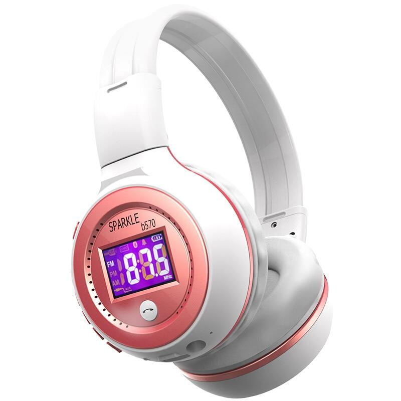 Zelot B570 Hi Fi Headphone Bluetooth Stereo Headset Nirkabel dengan Mikrofon FM Radio Micro Kartu SD