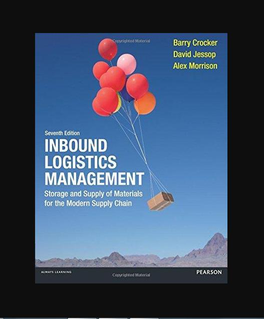 Inbound Logistics Management: Storage and Supply of Materials for the Modern Supply Chain 7th Edition - BK2004
