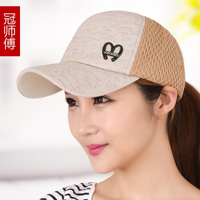 Topi wanita Musim panas topi lidah bebek Gaya Korea mata jaring topi bisbol  . 7cdb413559