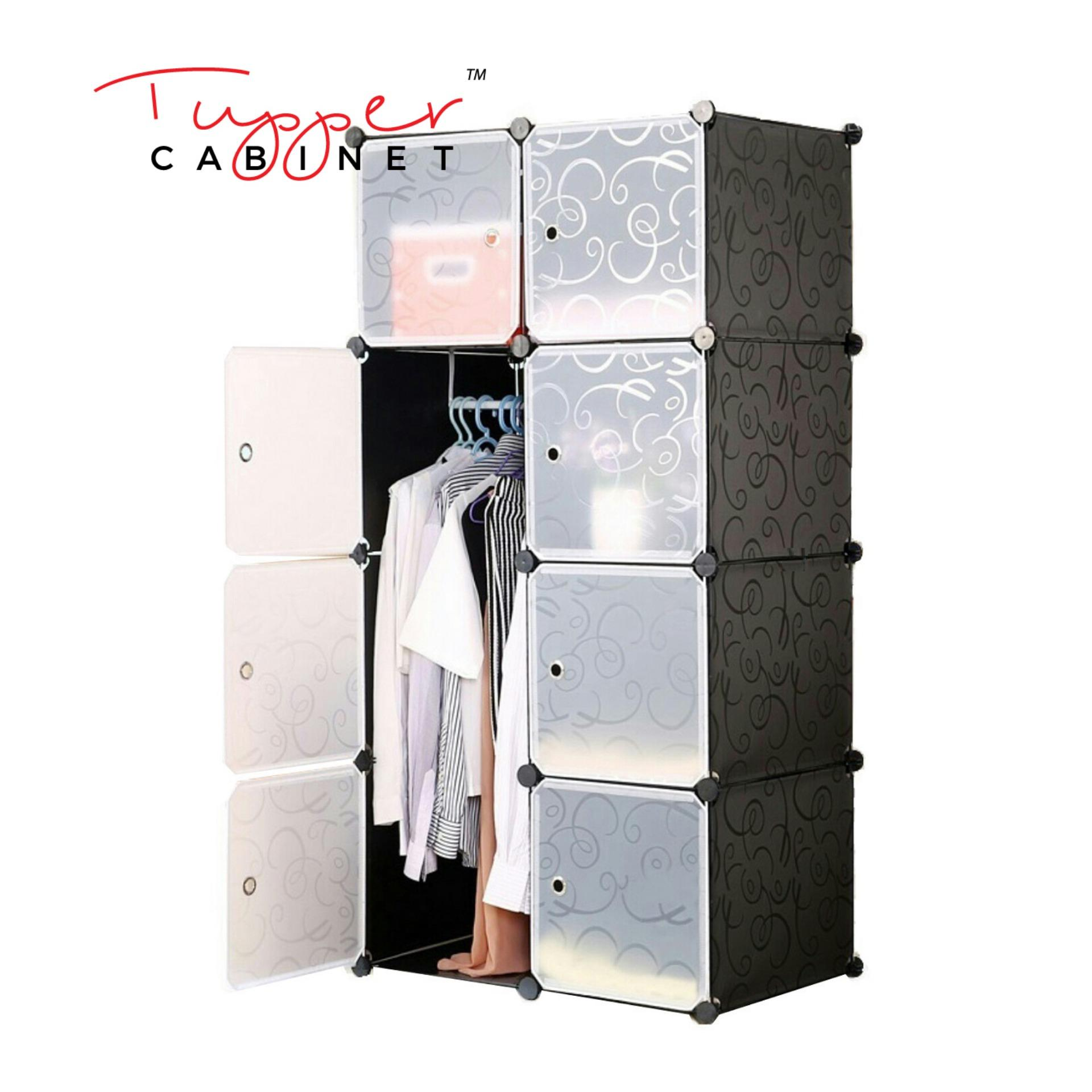 Sale Tupper Cabinet Elegant Black 8 Cubes Beauty Collection Wardrobe Organizer Tupper Cabinet Original