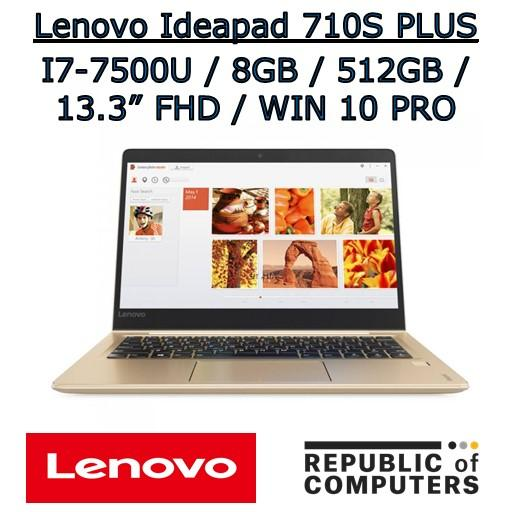 LENOVO IDEAPAD 710S-13IKB PLUS I7-7500U / 8GB / 512GB SSD / 13.3 FHD IPS / NVIDIA 2GB / WINDOW 10 PRO