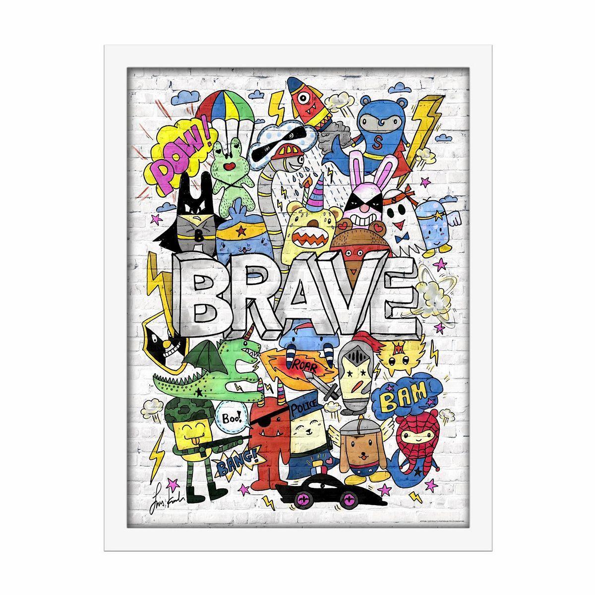 Brave Doodles Wall Decor