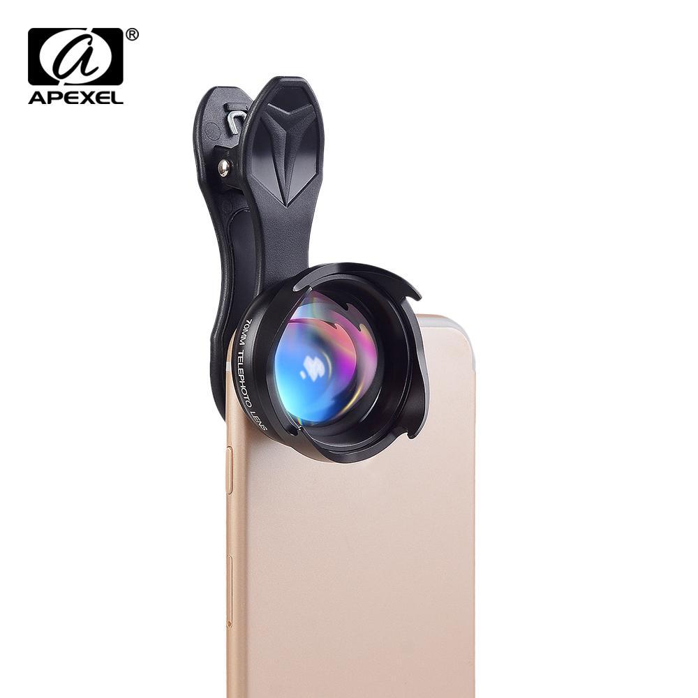APEXEL Profesional Lensa Ponsel 2.5X HD SLR Telefon Lensa Teleskop Bokeh Potret untuk iPhone 6 S/7 Xiaomi Lebih Smartphone 70 Mm