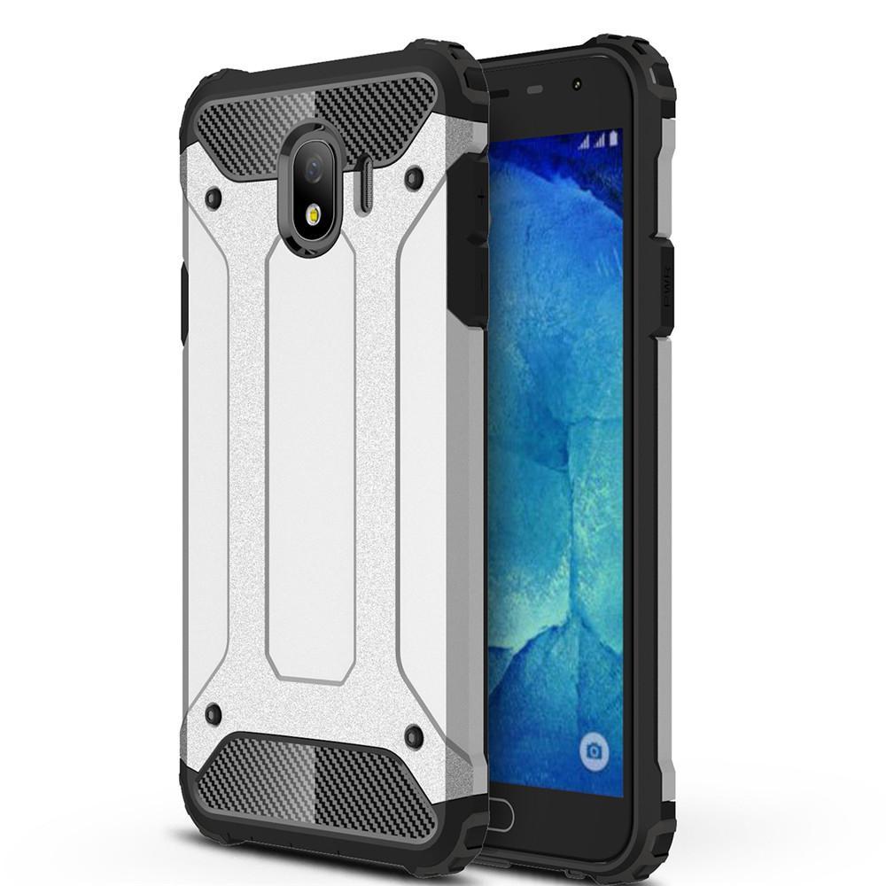 Lenuo for Samsung Galaxy J4 Hybrid Shell Armor Rugged TPU + Hard Plastic Anti-knock Shockproof Back