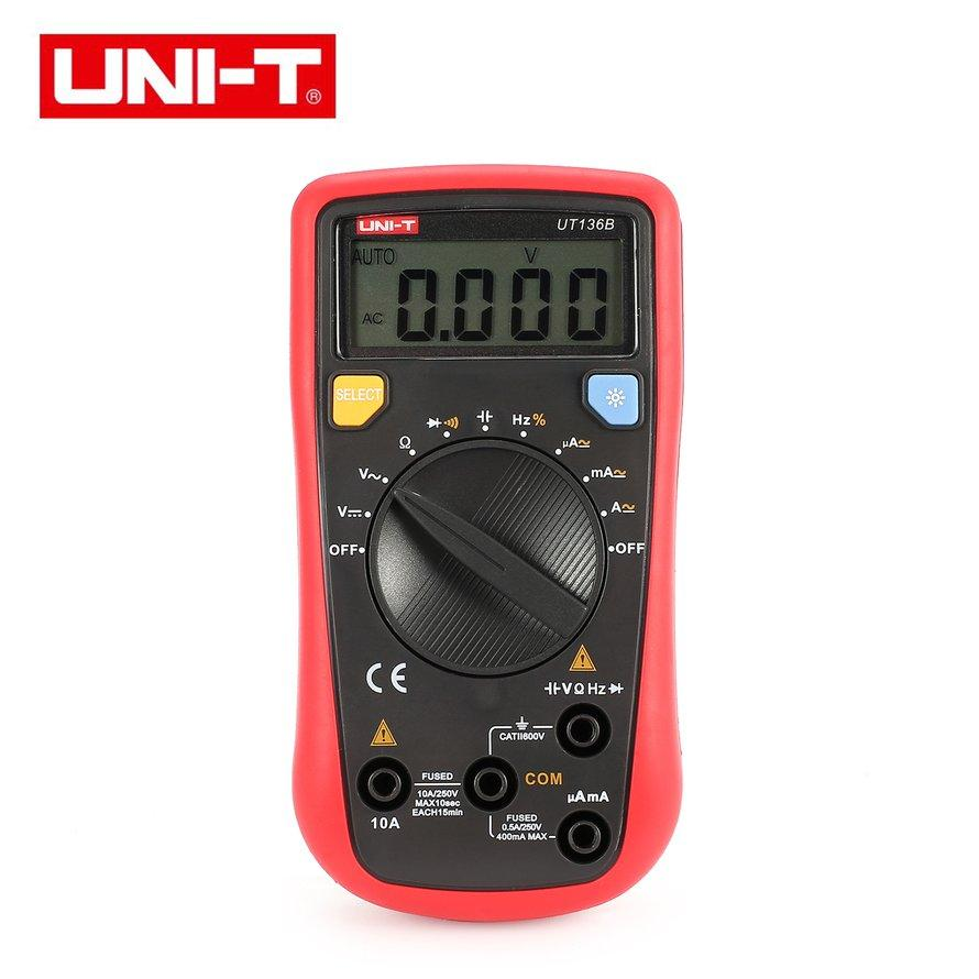 OSMAN UNI-T Multimeter Digital Auto/Manual Rentang AC/DC Volt Amp Ohm