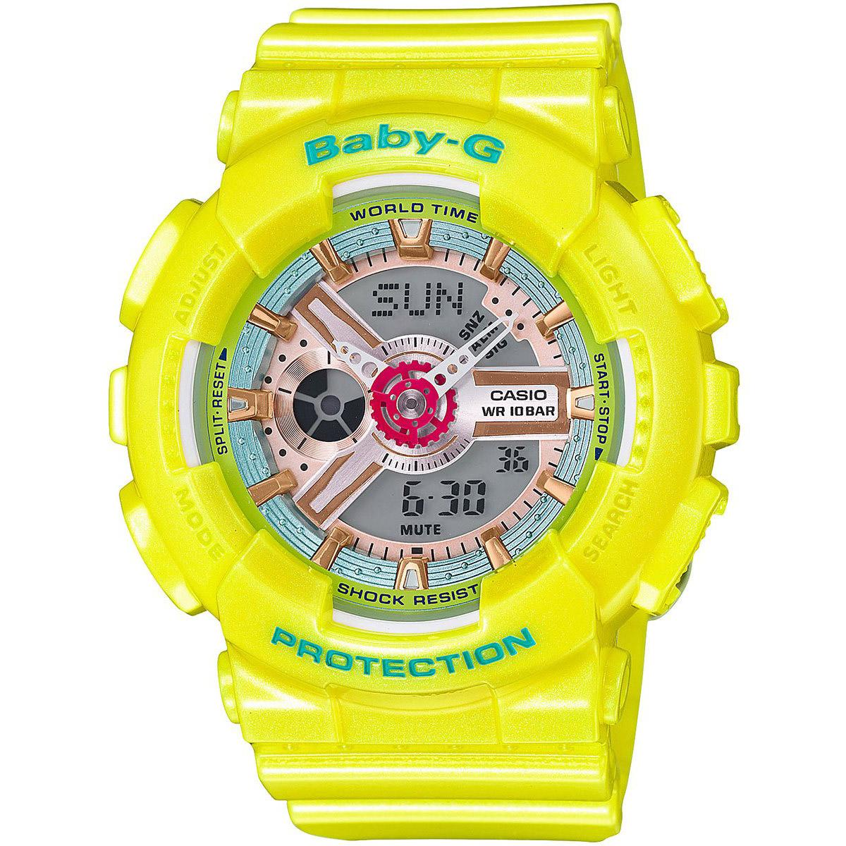 List Price Casio Watch Baby G Yellow Resin Case Resin Strap Ladies Ba 110Ca 9A Casio Baby G