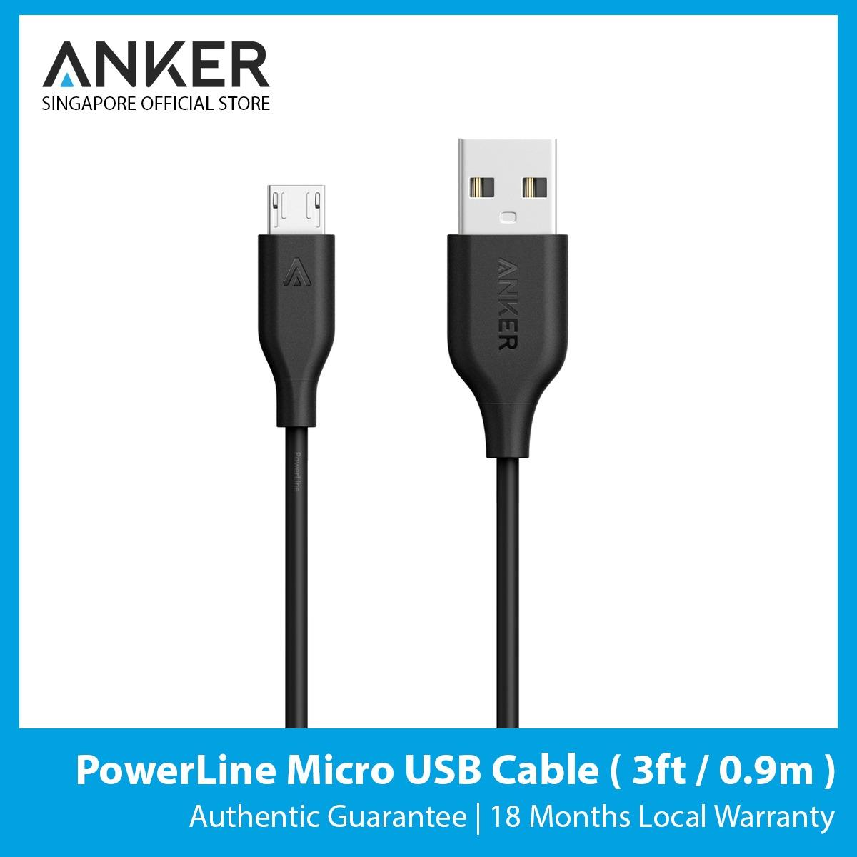 Price Anker Powerline Micro Usb Cable 3Ft 9M Online Singapore