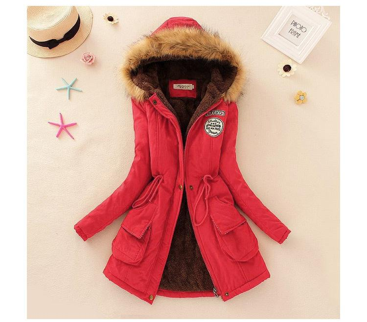 11858b535 2018 Autumn And Winter New Style Korean Style plus Velvet Hooded  Cotton-padded Clothes women