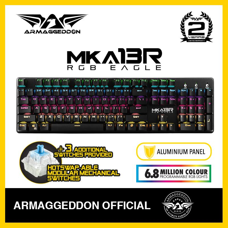 Fully Macro-able™ RGB Gaming Keyboard MKA-13R Armaggeddon