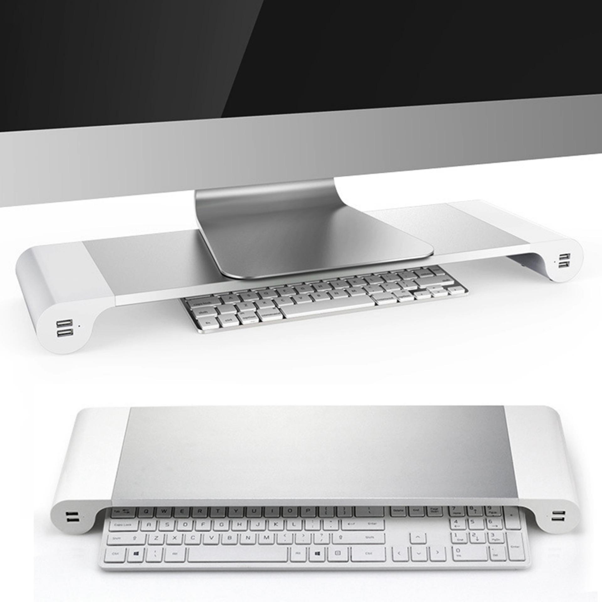 Aluminum Alloy Monitor Stand Space Bar Non Slip Computer Laptop