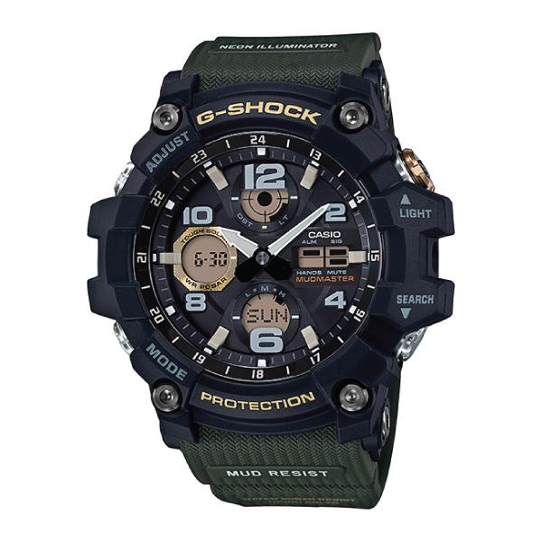 Casio G-Shock Master of G Series Mudmaster Olive Green Resin Band Watch GSG100-1A3 GSG-100-1A3