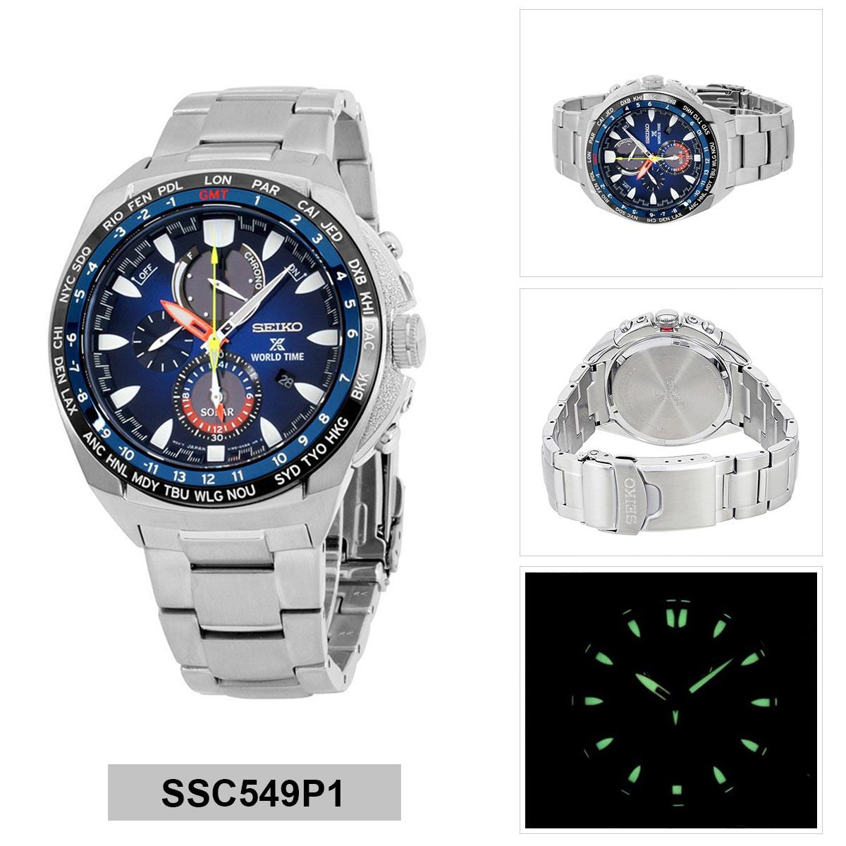 Price Comparisons Seiko Seiko Prospex Solar Chronograph Silver Stainless Steel Case Stainless Steel Bracelet Mens Ssc549P1