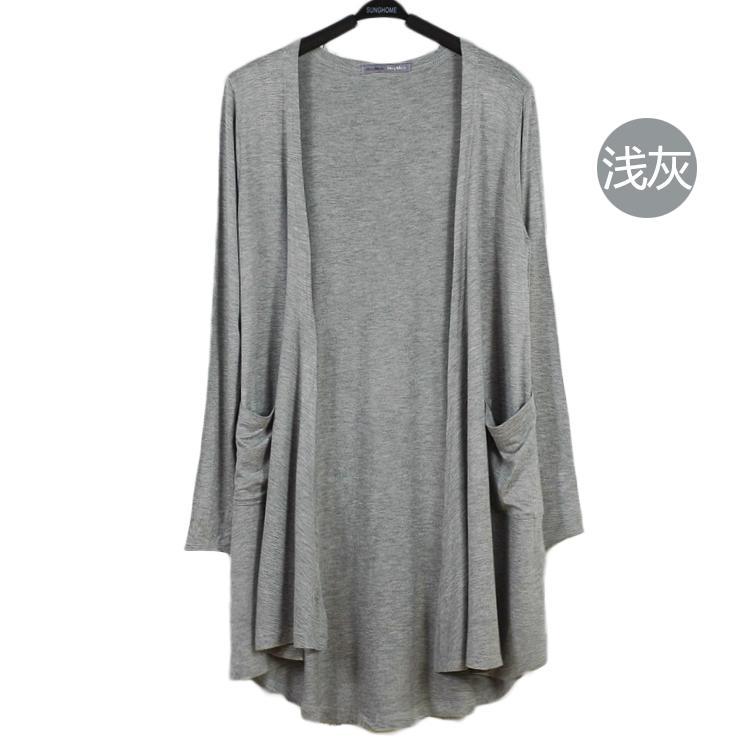Musim panas mantel tipis katun modal wanita model setengah panjang Lengan panjang Baju pelindung matahari ukuran