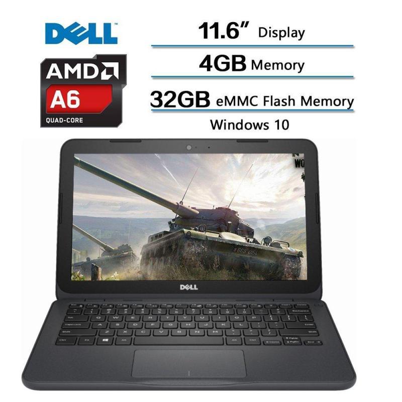 2018 Dell Inspiron Flagship High Performance Laptop, AMD A6-9220e accelerated processor 2.5GHz, 11.6 inch HD (1366 X 768) Display, 4GB DDR4 SDRAM, 32GB eMMC Flash Memory, Windows 10 (Gray)