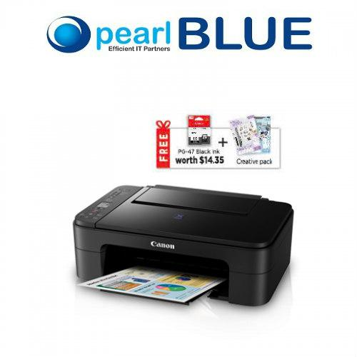 Shop For Canon Pixma E3170 Stylish Wireless All In One Printer With Borderless Photo Printing High Yield Cartridges