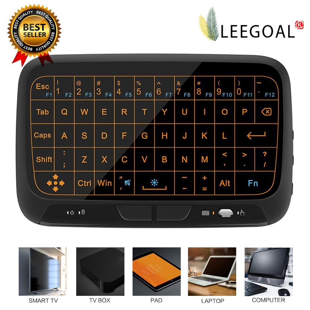 leegoal [Backlight Version] H18 Touch Keyboard Mini Wireless Keyboard Air Mouse Full Screen Touchpad - intl