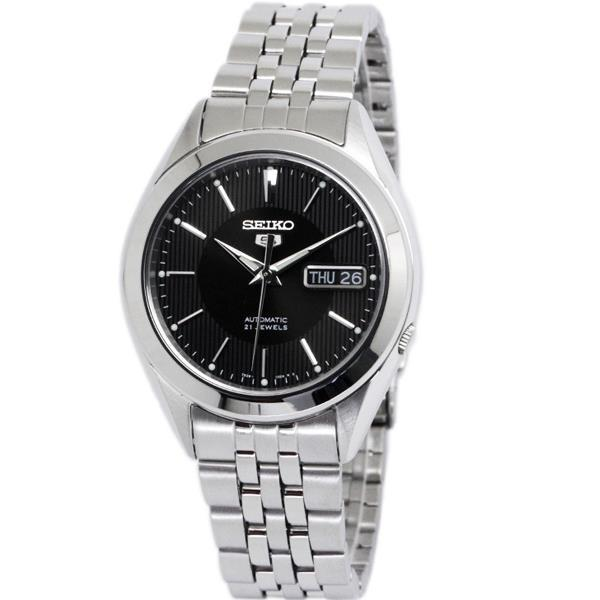 Seiko 5 SNKL23K1 Automatic Day-Date Black Dial Stainless Steel Mens Watch