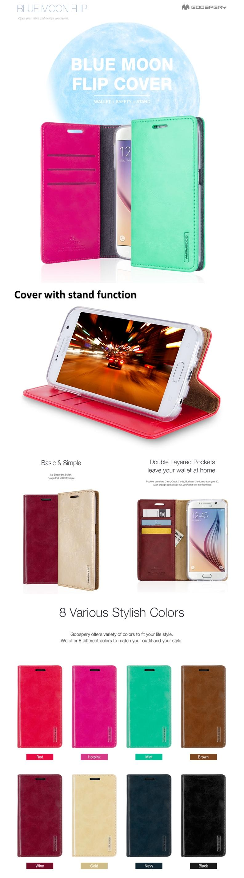 Goospery Blue Moon Flip Cover Case Cases Casing For Iphone Xs X 7 8 Xiaomi Mi 6 Canvas Diary Pink Specifications Of Plus