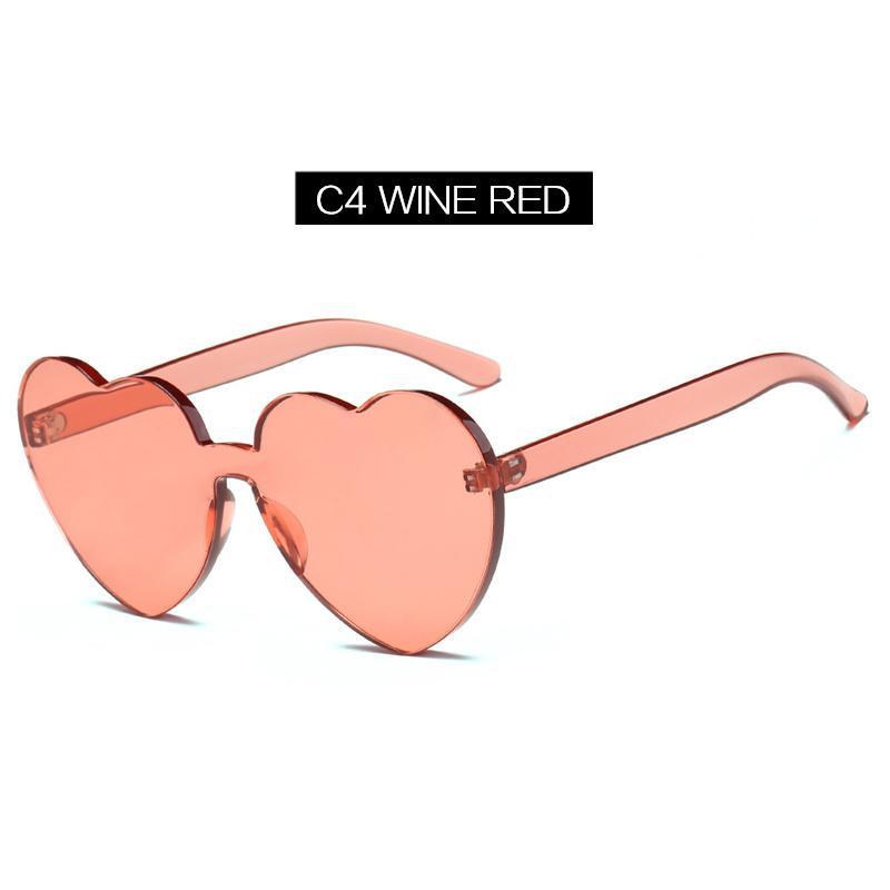 YOOSKE Bentuk hati Sunglasses Wanita Cat Eye Style Peach Bentuk Kacamata  Matahari Perempuan Vintage Cinta Eyewear f6b3dbd0af
