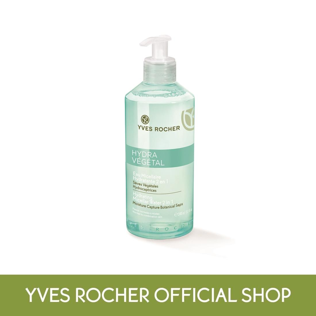Compare Price Yves Rocher Hydra Vegetal Hydrating Micellar Water 2 In 1 390Ml On Singapore