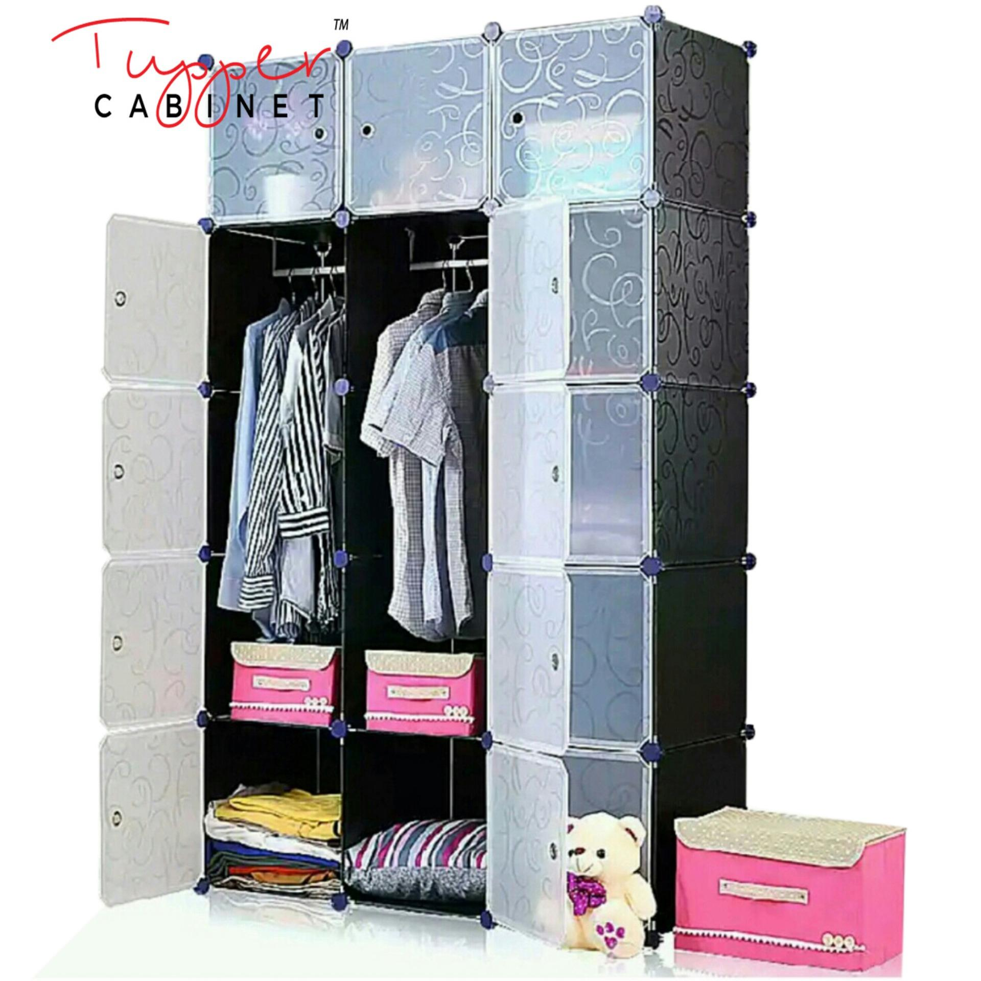 Sale Tupper Cabinet Elegant Black 15 Cubes Classic Collection Wardrobe Organizer On Singapore