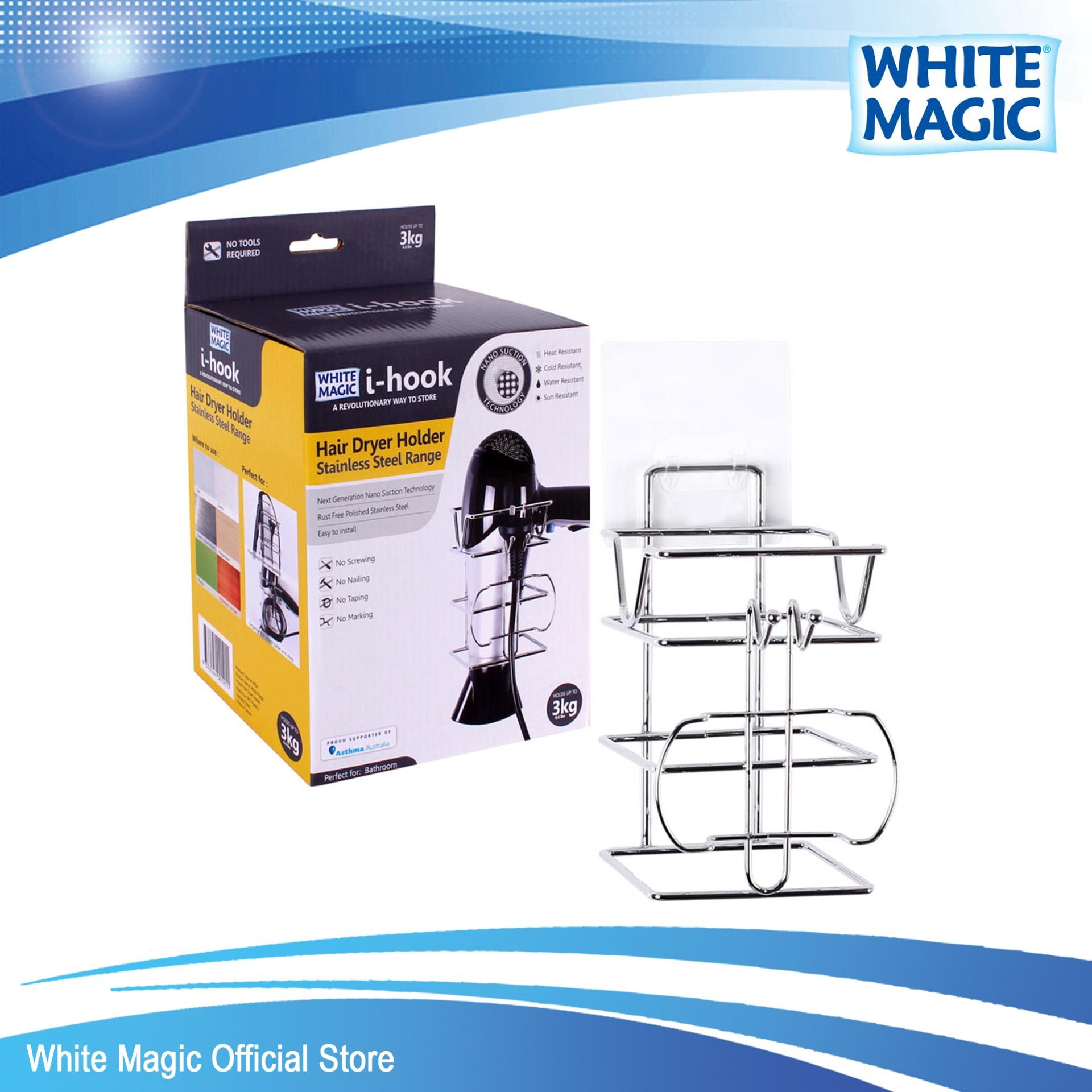 Sale White Magic I Hook Hair Dryer Holder Singapore