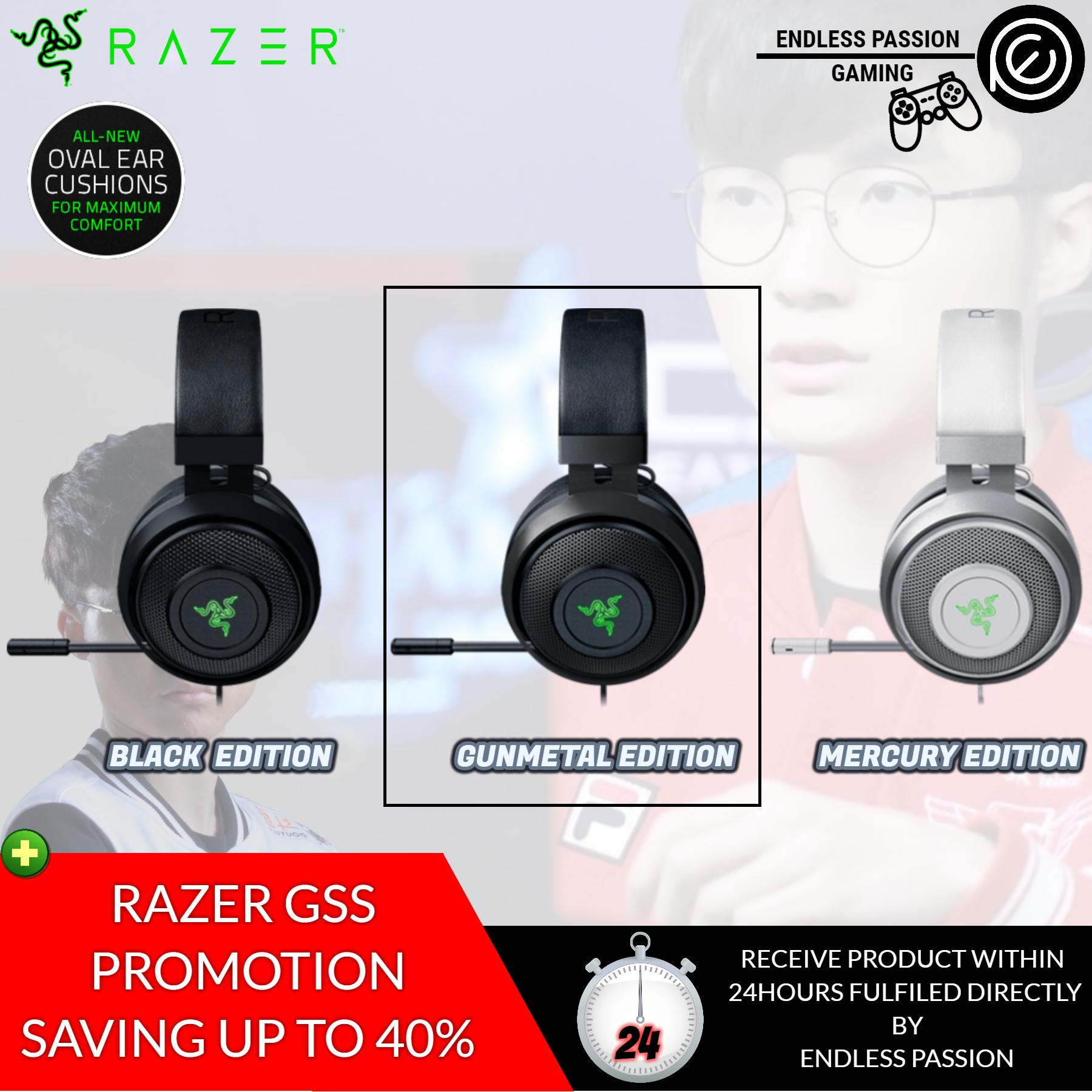 Razer Kraken 7.1 Chroma V2 USB Gaming Headset - 7.1 Surround Sound with Retractable Digital Microphone and Chroma Lighting - Oval Ear Cushions