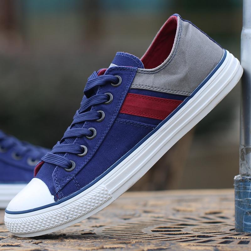 Warrior sepatu pria campur warna Sepatu kanvas Pria casual sepatu olahraga Gaya  Korea Rendah sepatu sneaker a92d8ee3b3