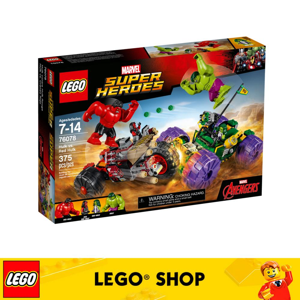 Brand New Lego® Super Heroes Hulk Vs Red Hulk 76078