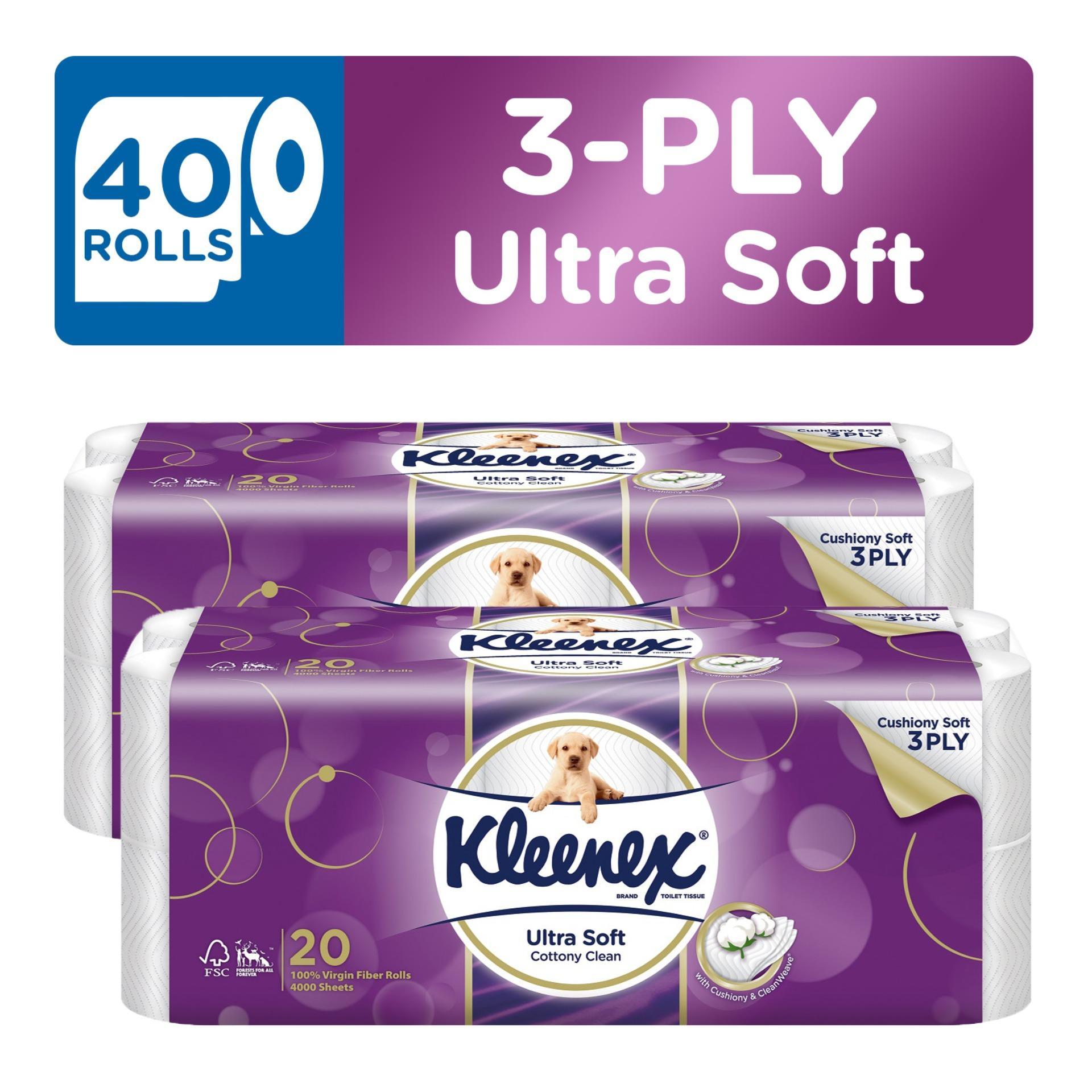 Kleenex Clean Care Bath Tissue 20X200Sheets X 2 Price