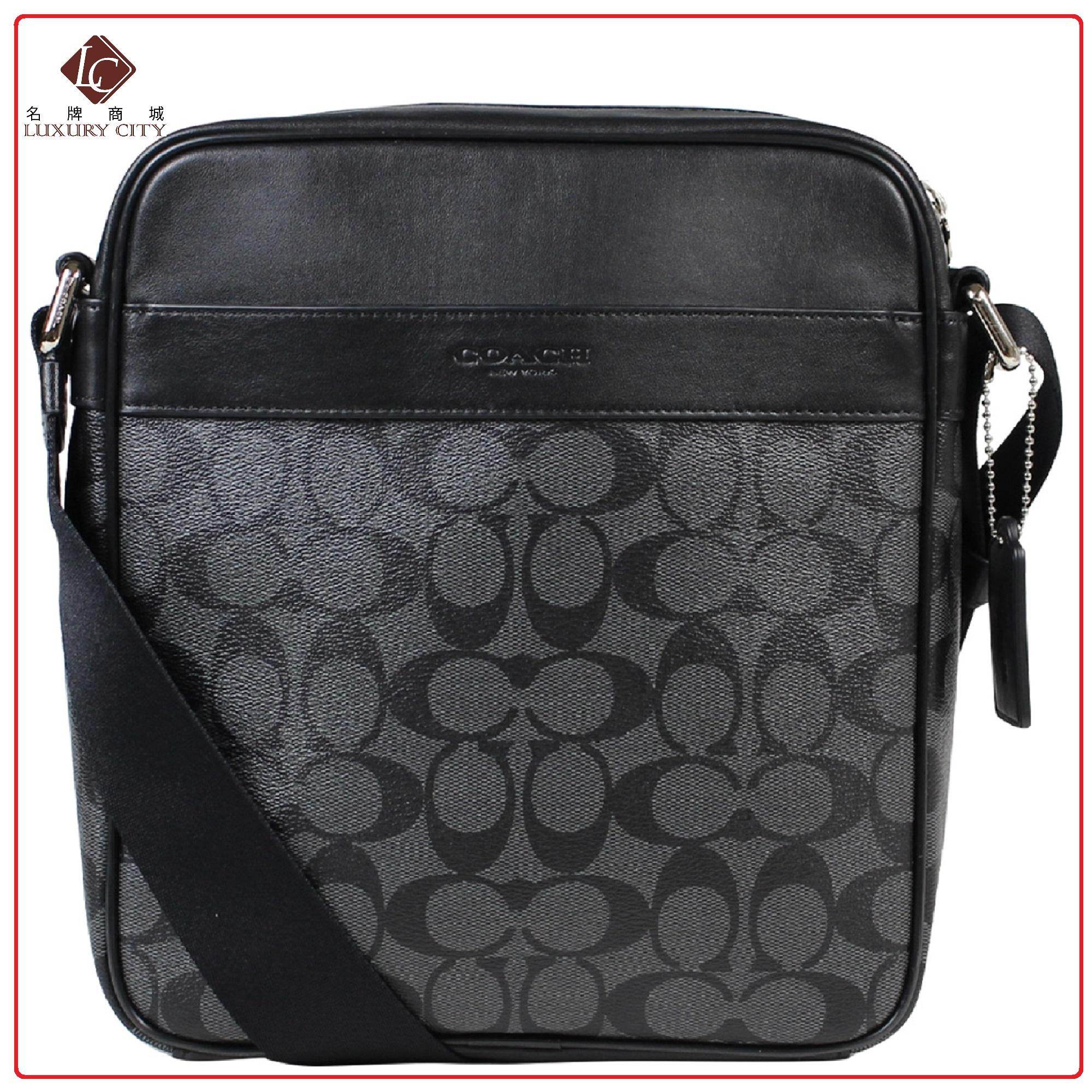 a1e5b58b68d9 Coach Men s Shoulder Inclined Shoulder Bag F54788 (Black)