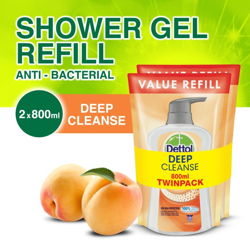 Buy Dettol Deep Cleanse Body Wash - Refill Pouch Twin Pack 800ML x 2 Singapore