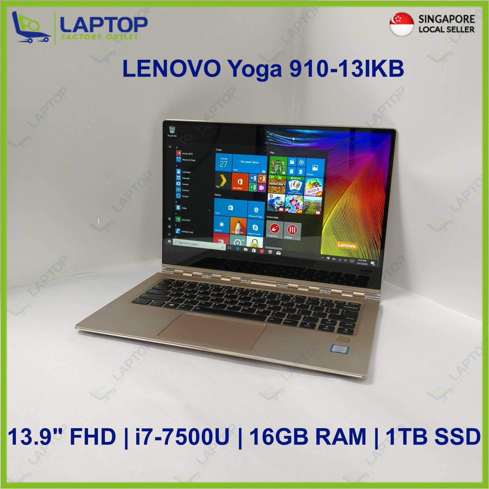 LENOVO Yoga 910-13IKB Touch Screen (i7-7/16GB/1TB SSD) @Light Original Warranty@ Preowned [Refurbished]