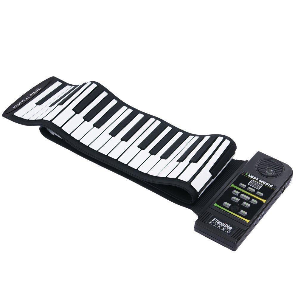 มือม้วนเปียโน 88 คีย์หนาลำโพงคีย์บอร์ดเปียโนพกพาขาย - Intl.