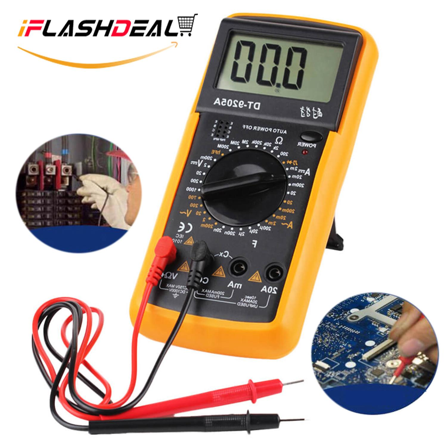 iFlashDeal Digital Multimeter Volt Tester with LCD Backlight Display