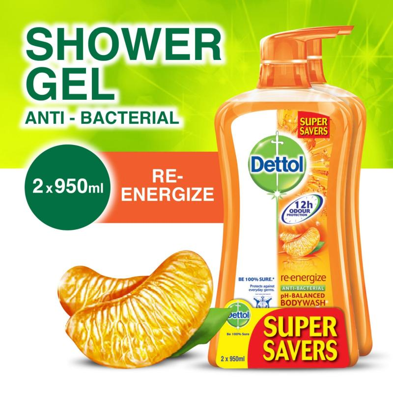 Buy Dettol Re-Energize Body Wash - Twinpack 950ML x 2 Singapore