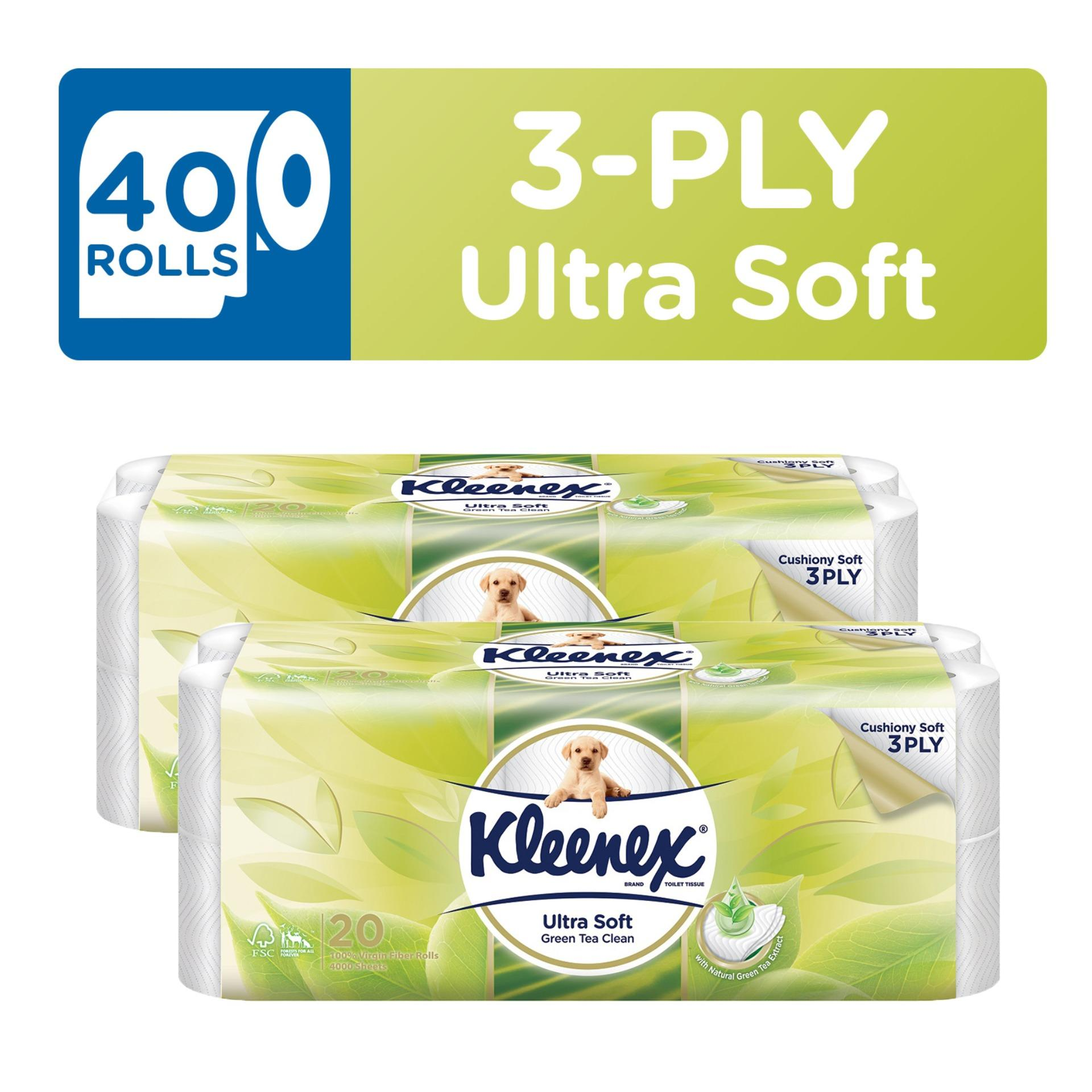 Great Deal Kleenex Clean Care Bath Tissue Green Tea 20X200Sheets X 2