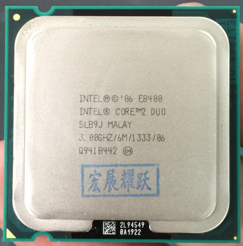 Intel Core 2 Prosesor Duo E8400 (6 M Cache, 3.00 GHz 1333 MHz FSB) SLB9J EO LGA775 Cpu Desktop Intel Central Unit Prosesor-Intl