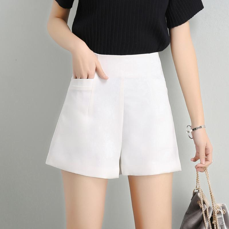 Korean-style chiffon female thin pants men's shorts