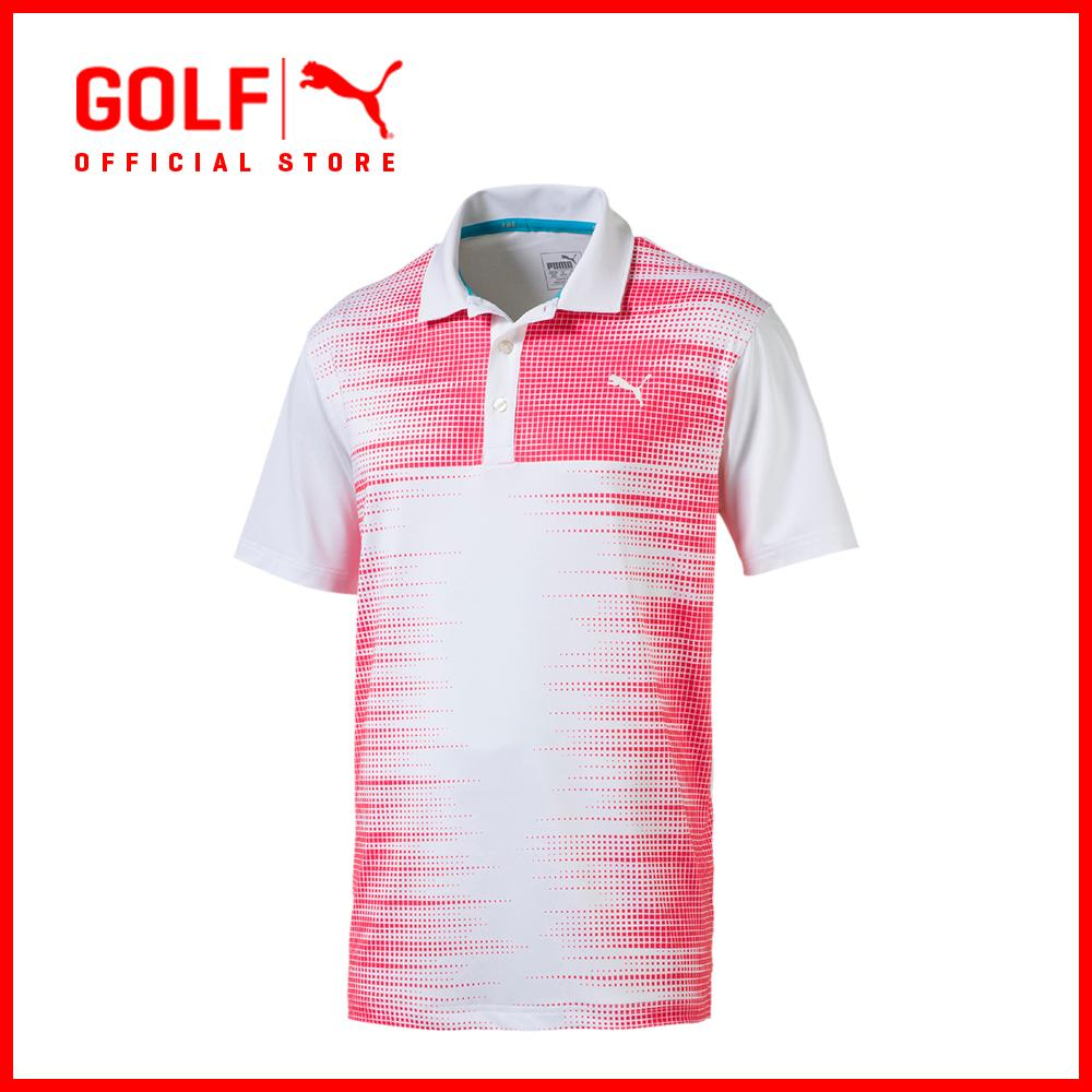 Sale Puma Golf Men Frequency Polo Pc Bright White Puma Golf Original