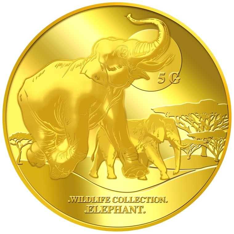 Buy Puregold 5G Wildlife Elephant Gold Coin 999 9 Puregold