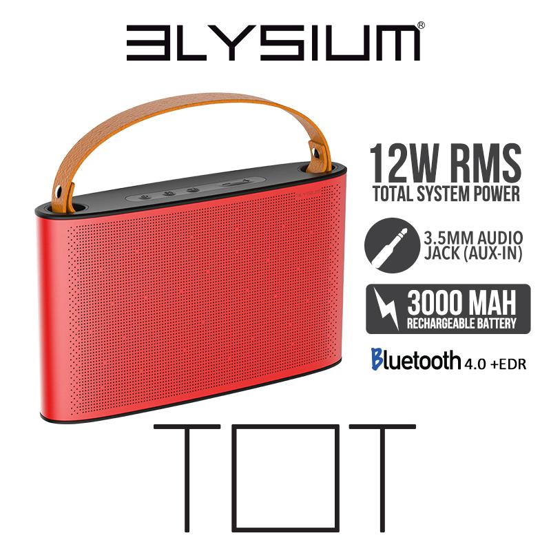 The Cheapest Elysium Bluetooth Portable Stereo Speaker System Tot Online