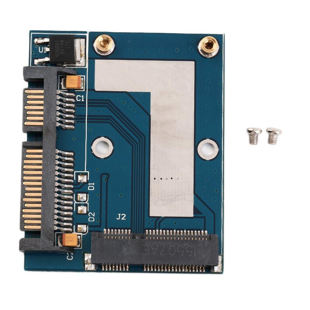 GOFT Mini PCI-e MSATA To 2.5 SATA Adapter Converter Card Module Blue Board