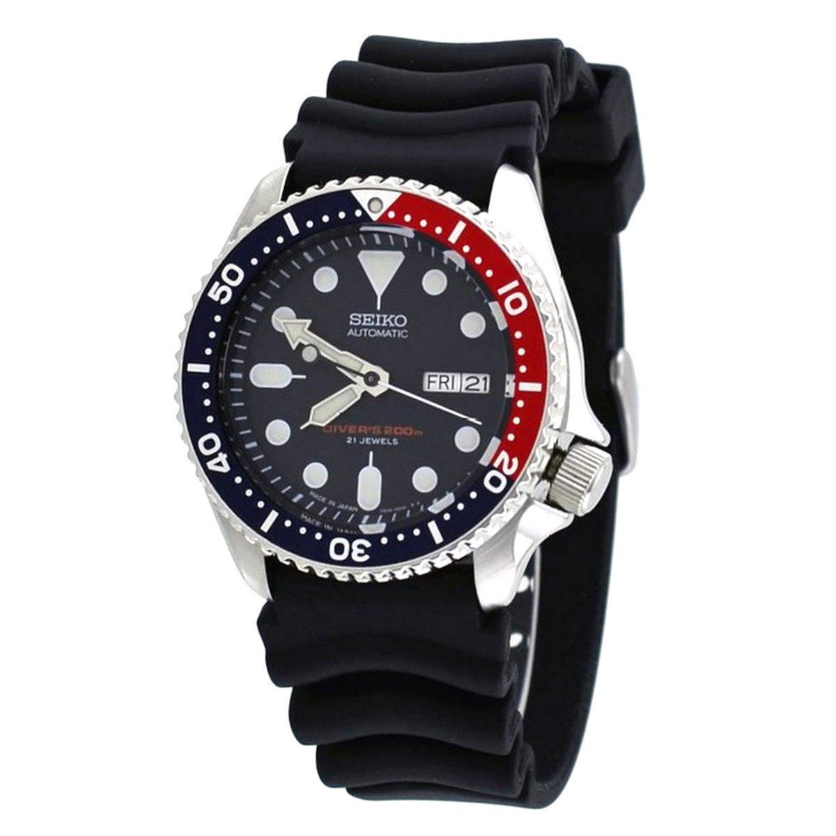 For Sale Seiko Seiko Automatic Diver S Black Stainless Steel Case Rubber Strap Mens Japan Skx009J1