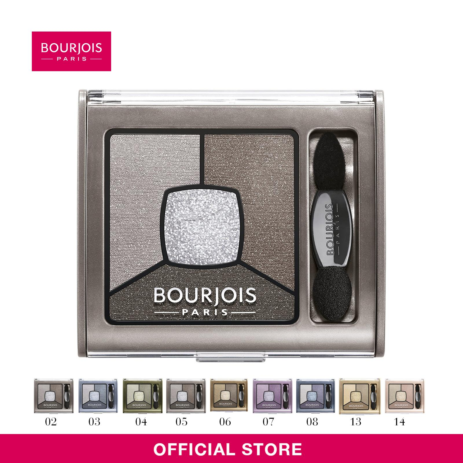 Bourjois Smoky Stories Quad Eyeshadow Palette [Shades Available: 02  03  05  06  08] 3.2g