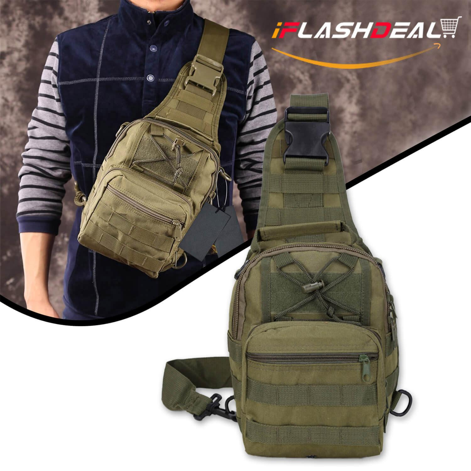 4fe3b33e58 iFlashDeal Tactical Sling Bag Men Crossbody Bas Outdoor Chest Pack Shoulder  Backpack Military Sport Cross Body