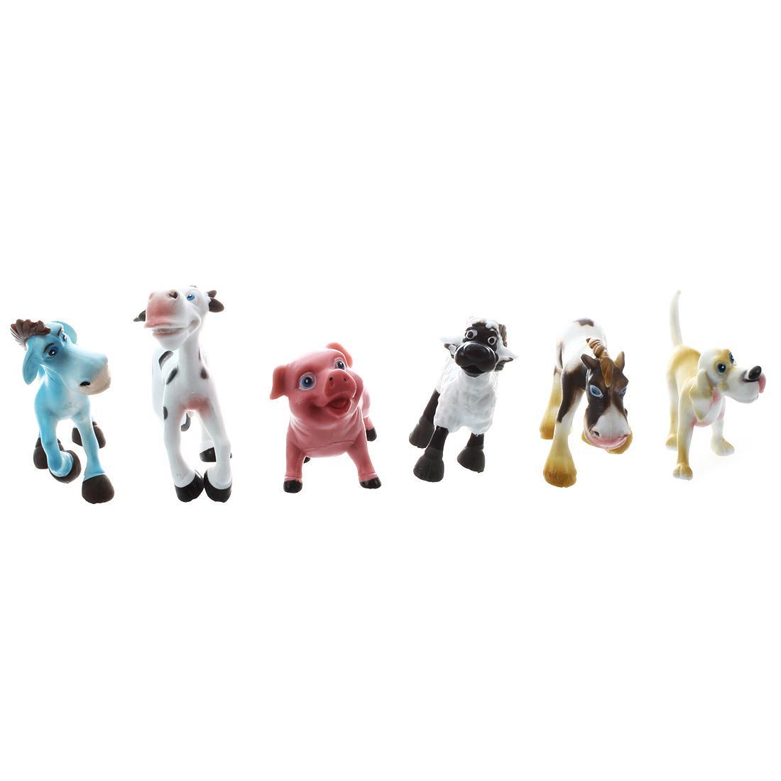 Penjualan Terlaris 6 Baru Plastik Keras Pertanian Kartun Tokoh Hewan Set Mainan Anak Anak-Intl